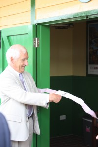 Chris Green cuts the ribbon at Smallbrook Junction